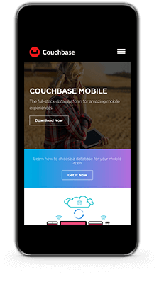 couchbase mobile homepage top
