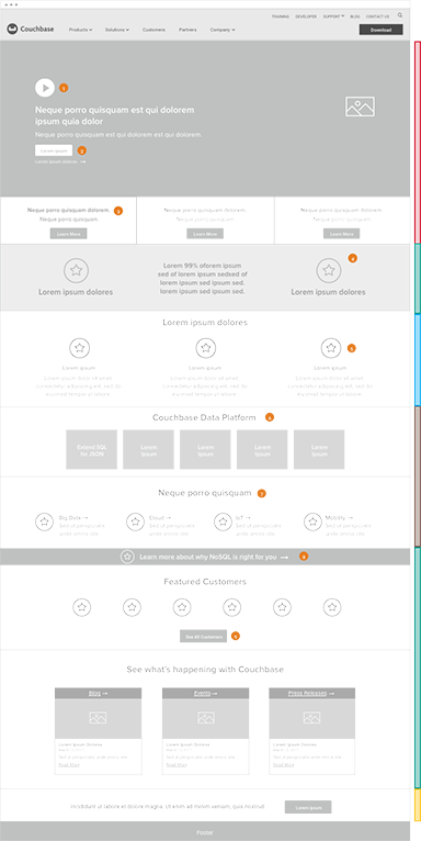 wireframe for couchbase detail page