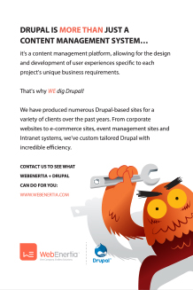 drupal solution postcard back