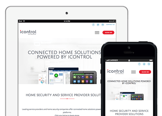 icontrol responsive website