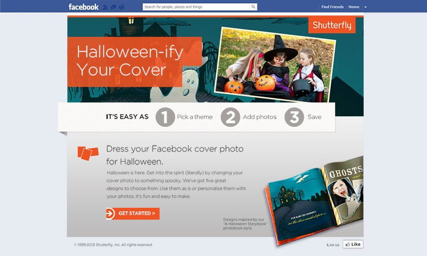 Show your Halloween Spirit with Shutterfly's HTML5 Facebook Application1