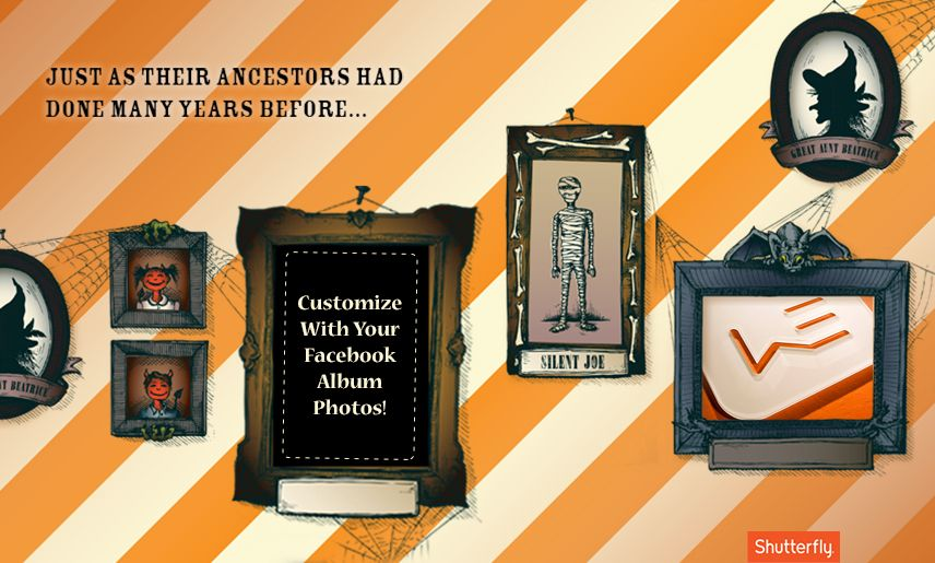 Show your Halloween Spirit with Shutterfly's HTML5 Facebook Application2