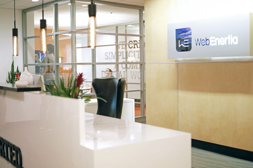 webenertia backlight lobby desk1