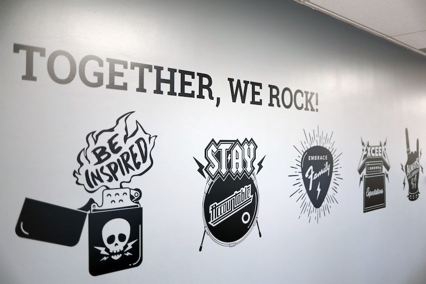 together we rock core values rock theme