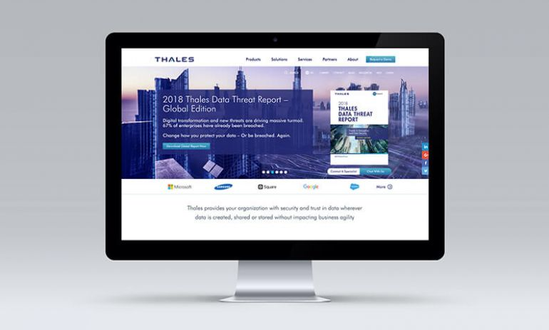 thales redesign homepage on desktop computer