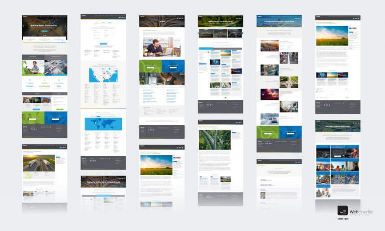 iteris webpage mockups full height
