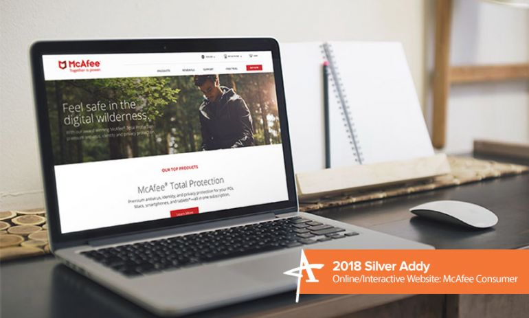 2018 silver addy online/interactive website: mcafee consumer