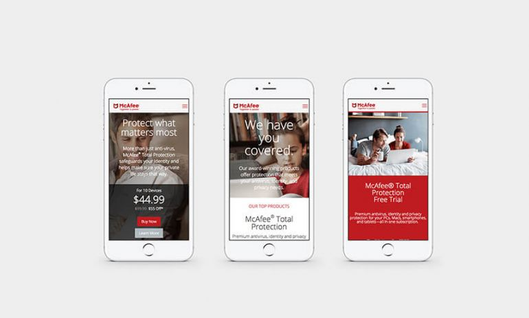 mcafee consumer website on mobile phones