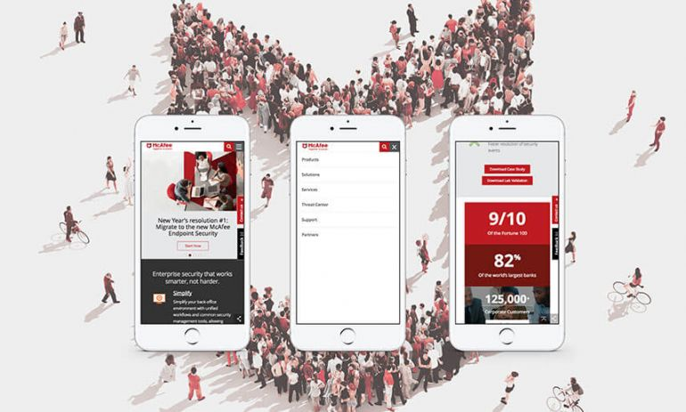 mcafee enterprise website on mobile phones
