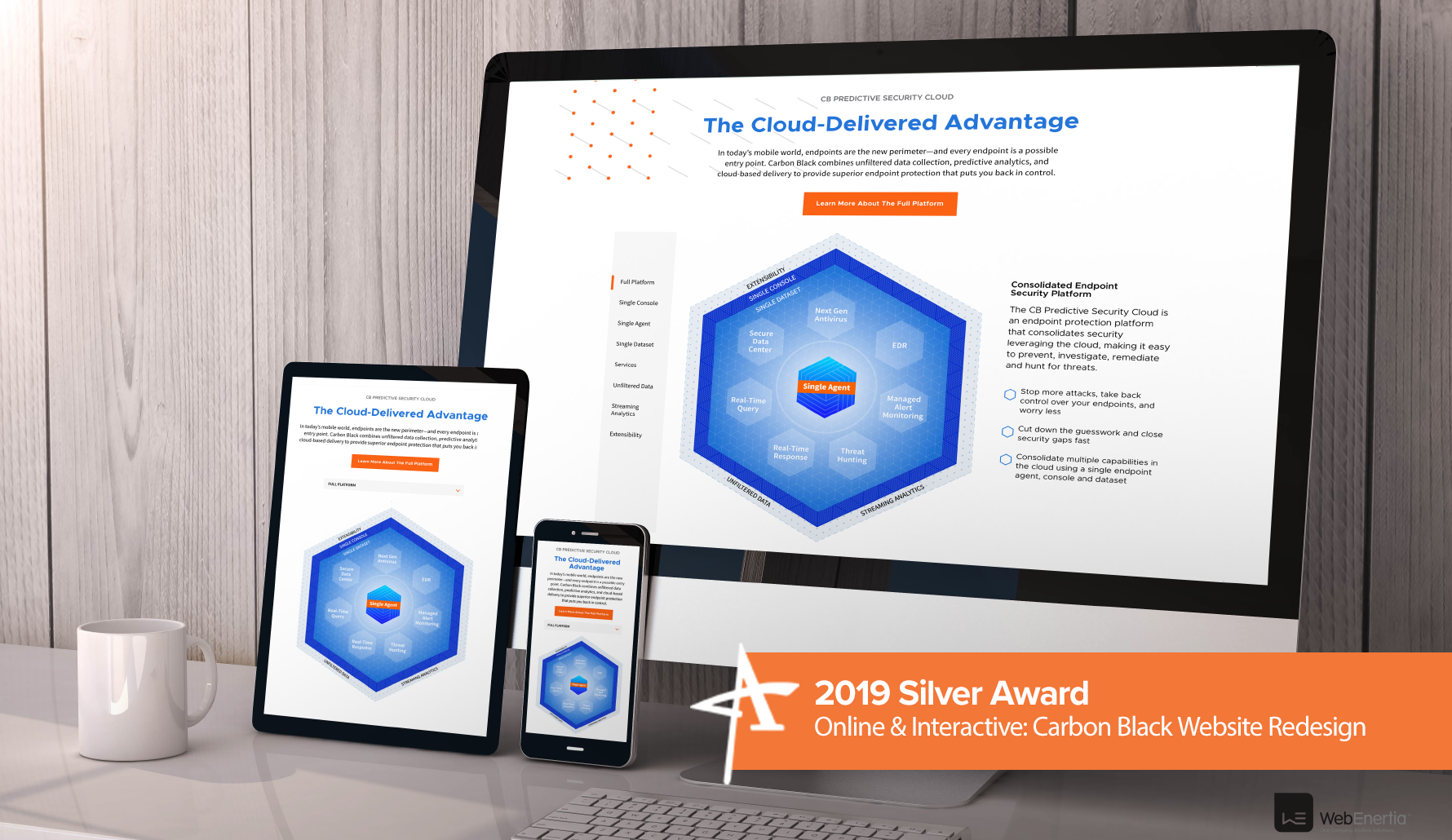 2019 Silver Addy Award - Online & Interactive: Carbon Black Website Redesign
