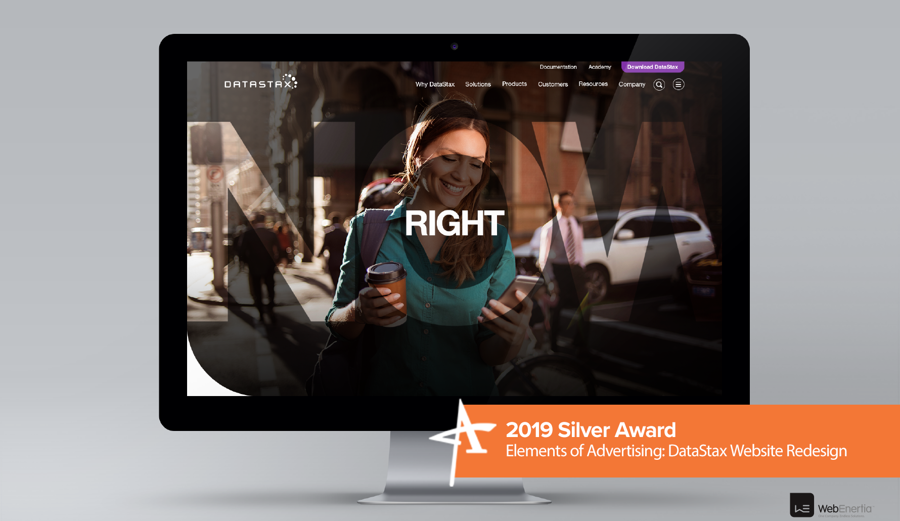 2019 Silver Addy Award - Elements of Advertising: DataStax Website Redesign