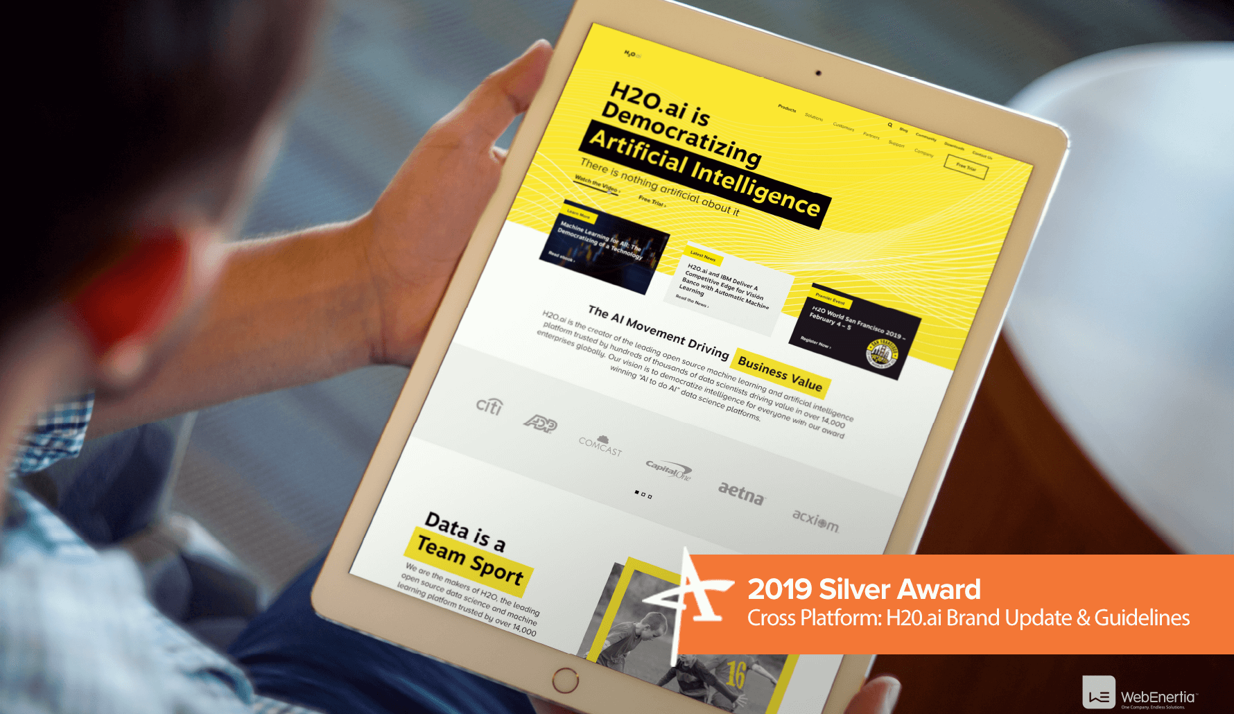 2019 Silver Addy Award - Cross Platform: H2O.ai Brand Update & Guidelines
