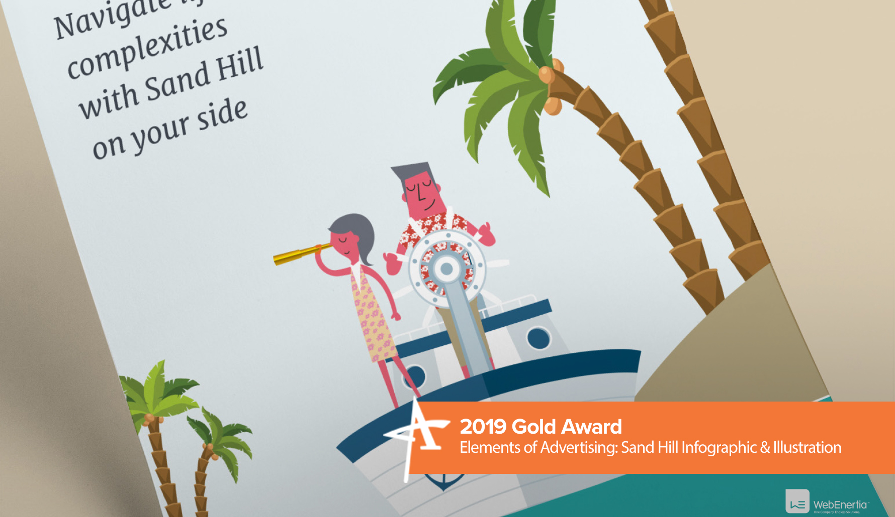 2019 Gold Addy Award - Elements of Advertising: Sand Hill Infographic & Illustration