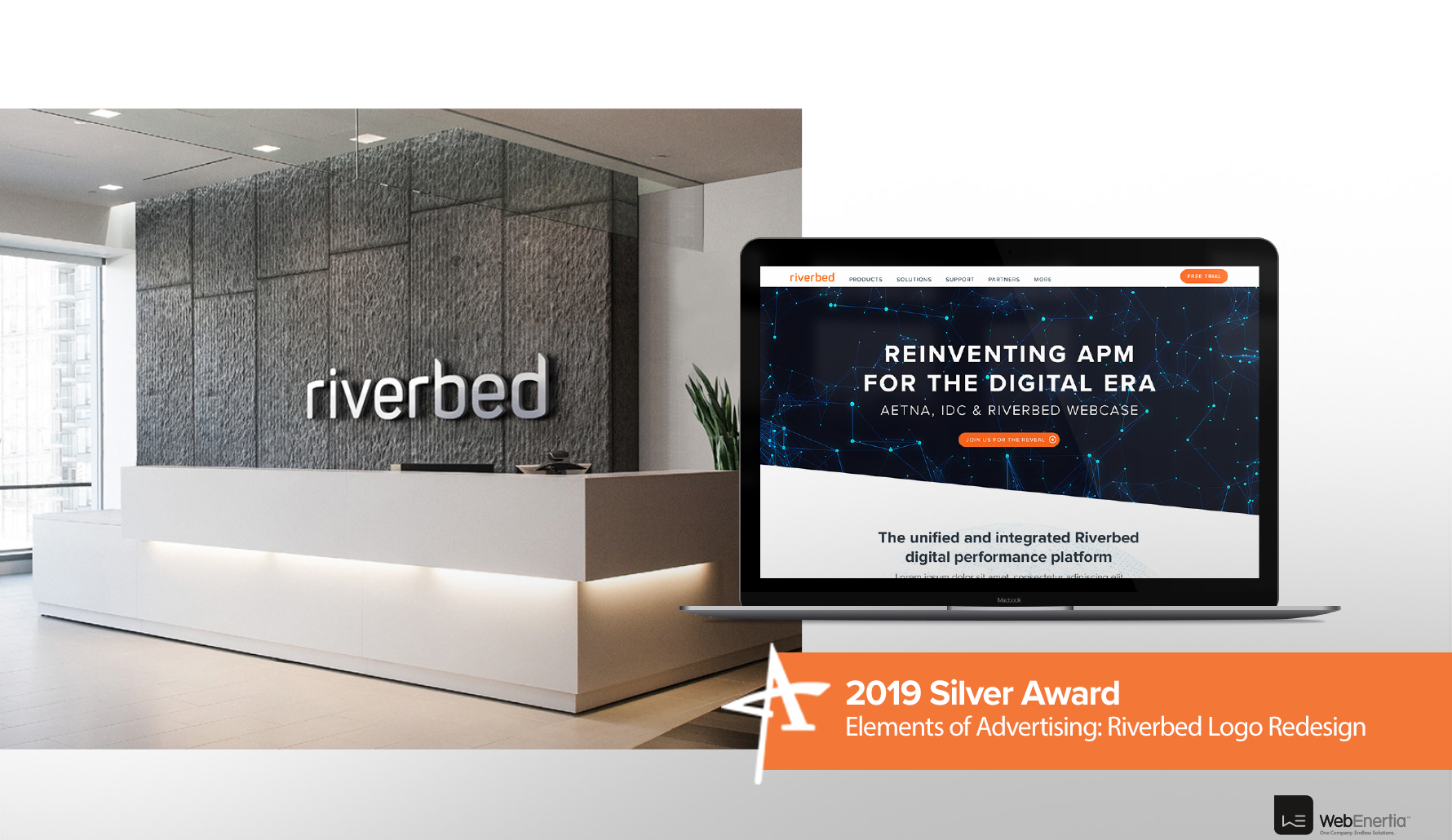 2019 Silver Addy Award - Elements of Advertising: Riverbed Logo Redesign