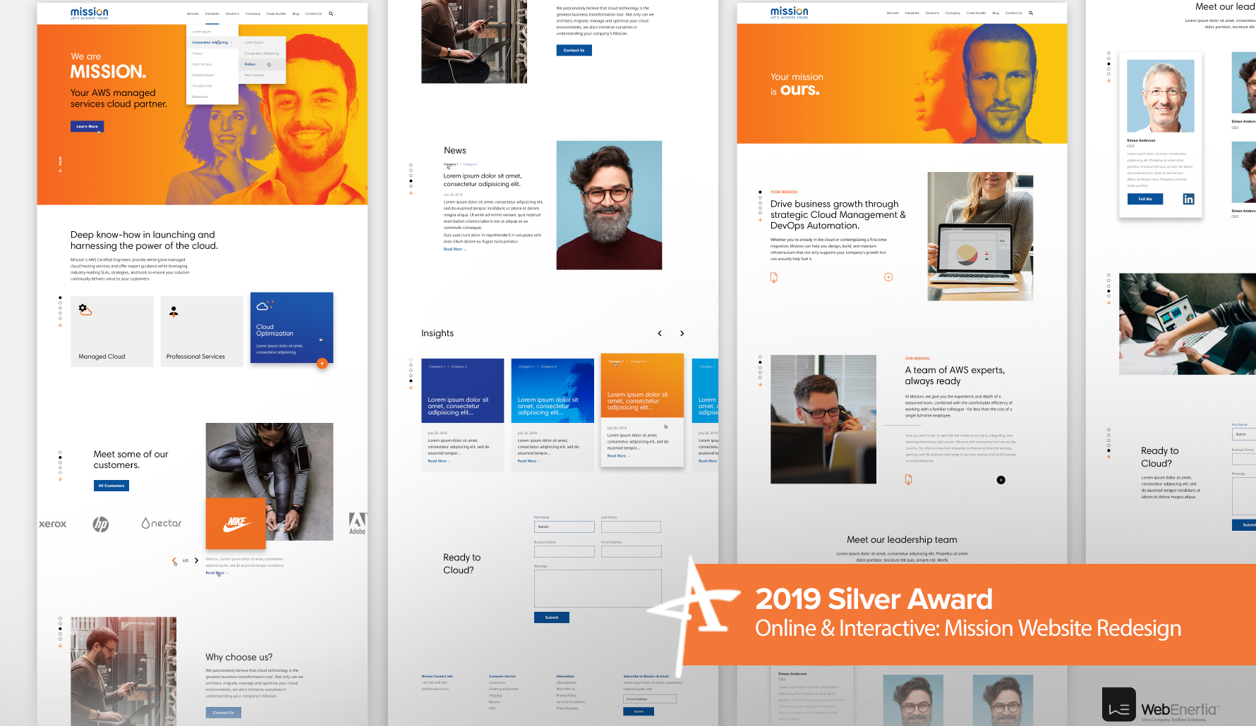 2019 Silver Addy Award - Online & Interactive: Mission Website Redesign