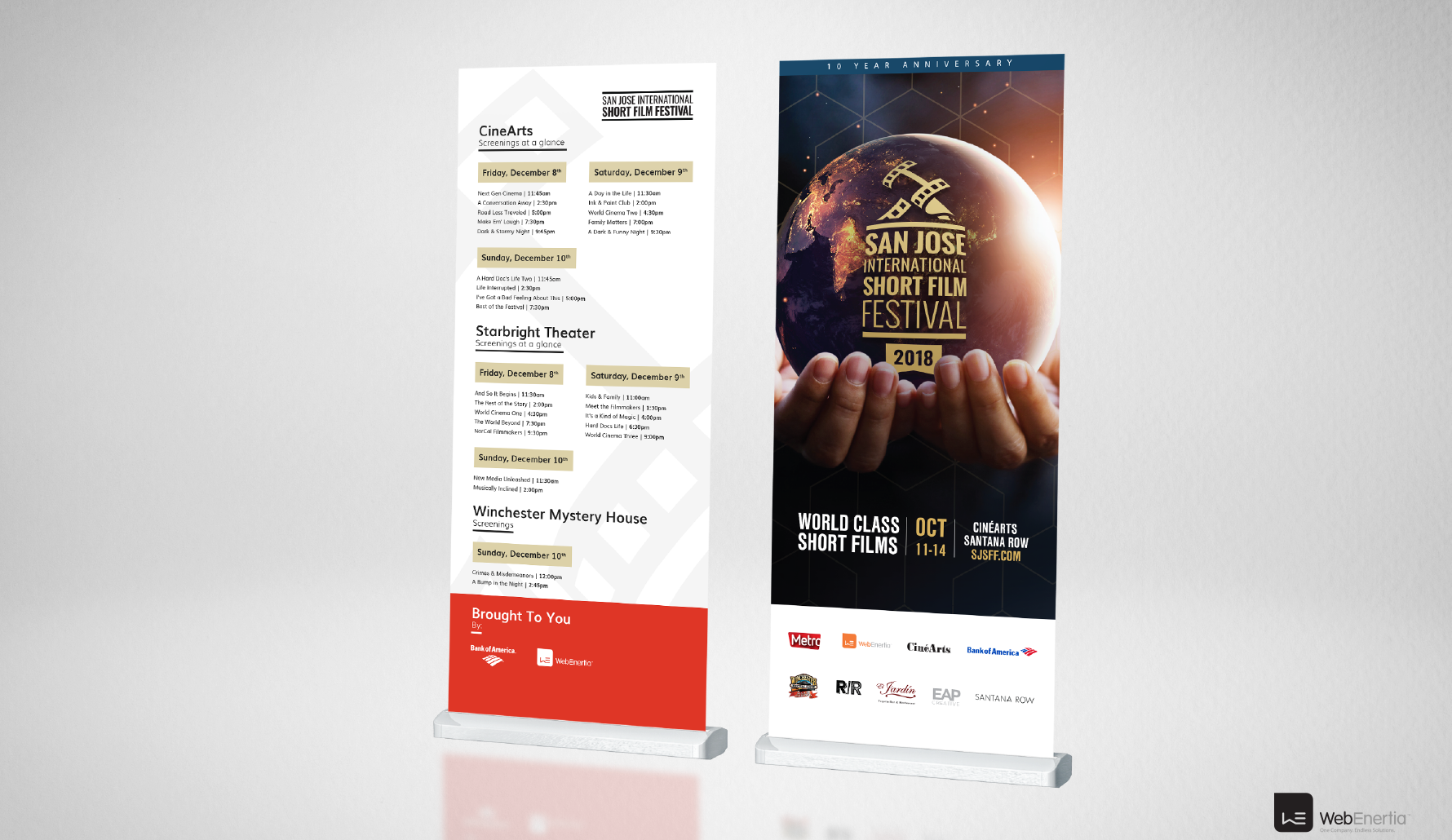 SJSSFF 2018 Campaign standing pull up banners