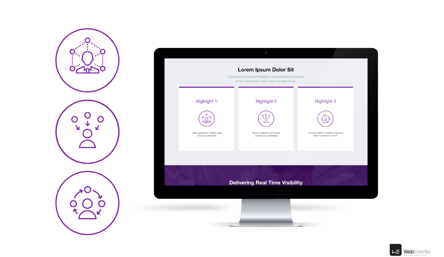 DataStax Website Redesign purple icons mockup