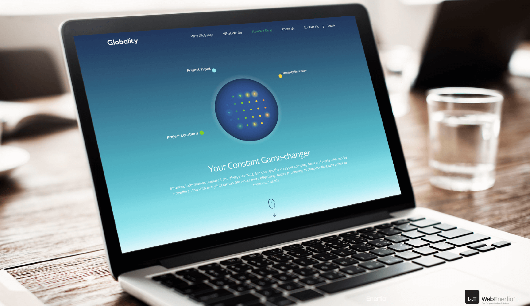 Globality Website Redesign on laptop