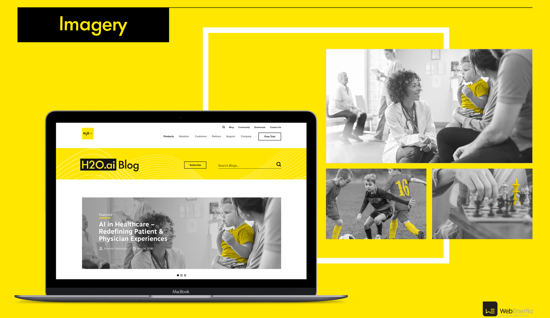 H2O.ai Brand Update & Guidelines imagery greyscale with yellow accents
