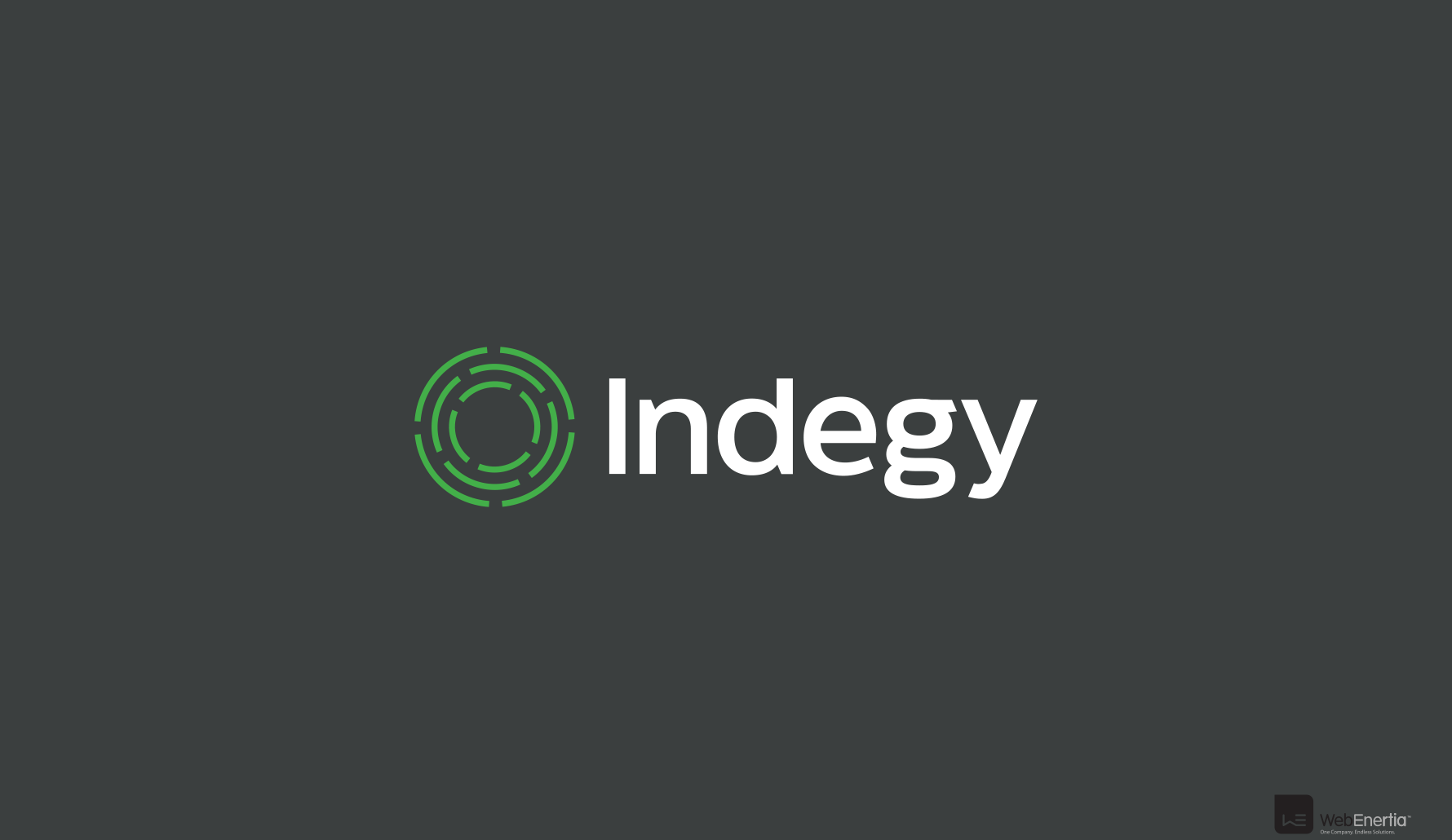 Indegy Brand Update & Guidelines Indegy in white text with green circular maze logo